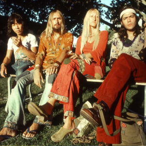 cabello largo hippie
